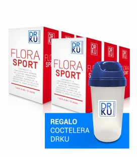 Doble pack flora sport. 6 uds + coctelera de regalo